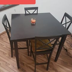 Counter high Dining table with 4chairs